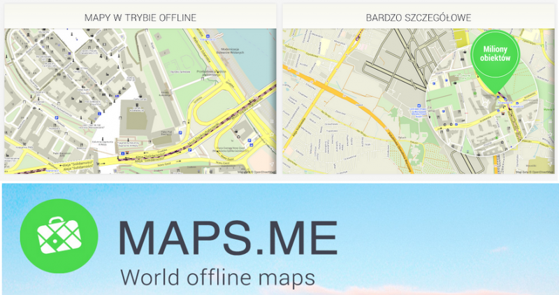 mapa off line