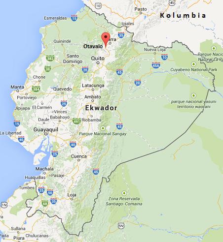 Otavalo Ekwador położenie