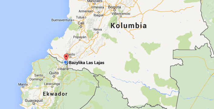 mapa las lajas kolumbia