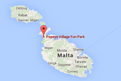 popeye village malta map