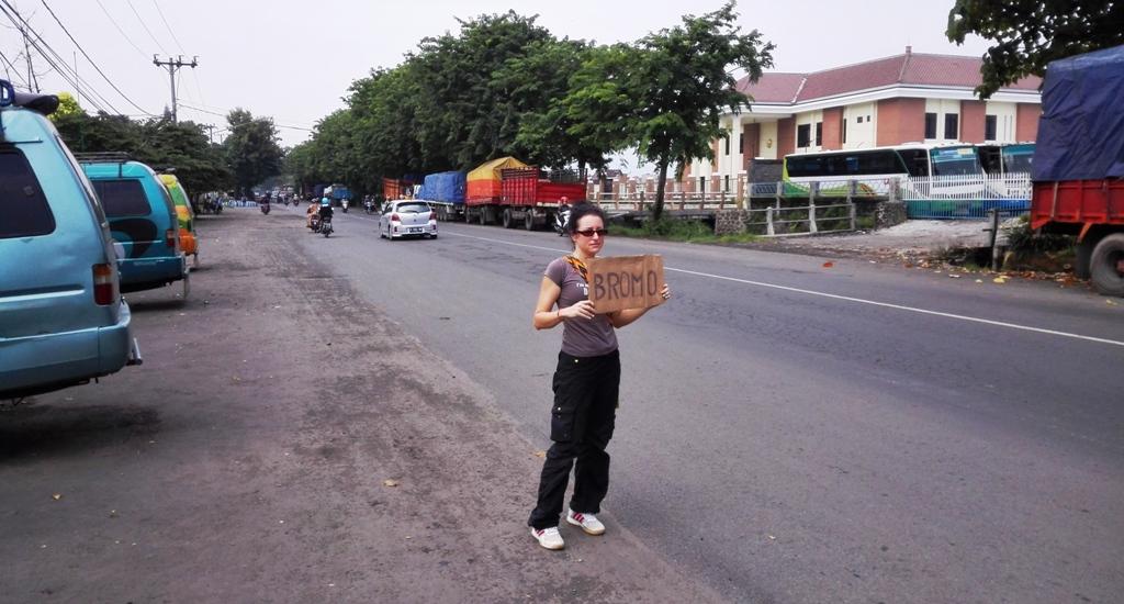 autostopem po indonezji